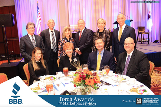 The Inland Real Estate Group of Companies, Inc. Receives BBB Torch Award for Marketplace Ethics for a Third Time