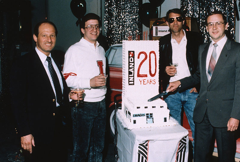Inland celebrates its 20th Anniversary in 1988